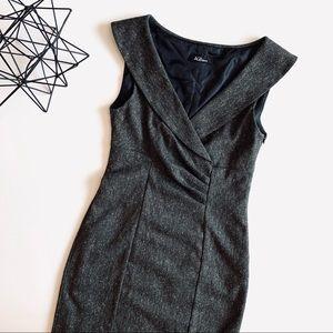 AGB Surplice Knee Length Sheath Dress